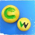 写真: 【ハンドメイド】仮面ライダーW:フィリップ君衣装モチーフクッキー裏側