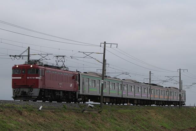 配9550レ ED75 757+205系M4編成(4両)