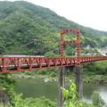 粟屋駅付近の吊り橋