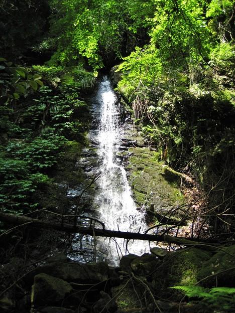河内不動の滝.一の滝と二の滝.鏡野町