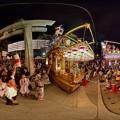 Photos: 2016年8月16日 三島夏祭り 360度パノラマ写真 大社前 山車競り合い HDR