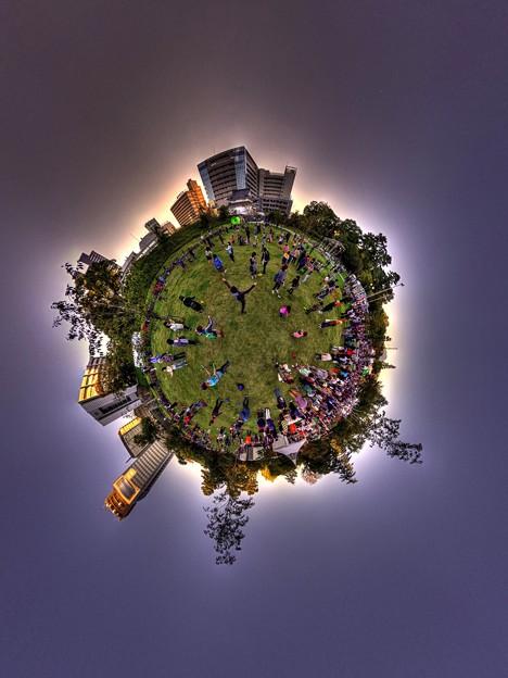 """2016年11月3日 大道芸ワールドカップ Little Planet  """"駿府城公園会場内の体験コーナー"""" HDR Panorama"""