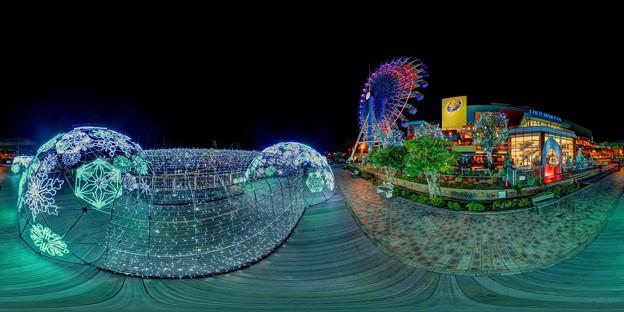 Photos: 「清水港 海と光の空間」 清水港・エスパルスドリームプラザのイルミネーション 360度パノラマ写真(2)