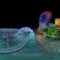写真: 「清水港 海と光の空間」 清水港・エスパルスドリームプラザのイルミネーション 360度パノラマ写真(2)