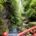 Photos: 洒水の滝と配信中のPC