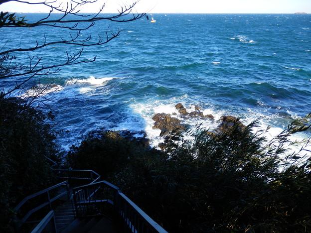猿島北側の海