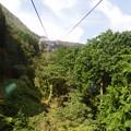 これから箱根ロープウェイの絶景区間を^^