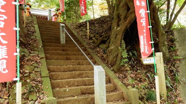 神社の入り口が登山道の始まり