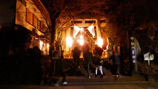 朝5時 八菅山、八菅神社の入口