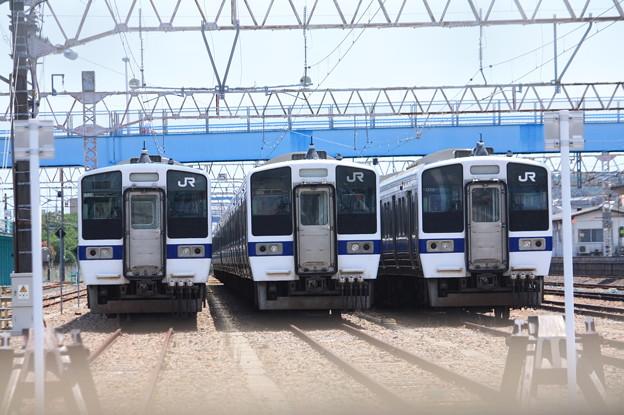Photos: 高萩駅留置されている415系1500番台 (16)