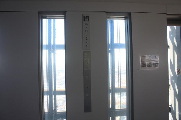 茨城県庁のエレベーターホール IMG_122147