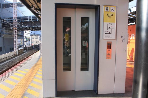 大阪環状線 西九条駅 3番線・4番線ホーム エレベーター