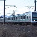 常磐線 E501系K702編成 553M 普通高萩行