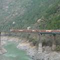 第2吉野川橋梁とアンパンマン列車