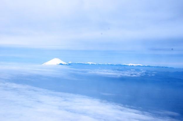写真00004 茅ヶ崎付近沖合からの富士と南アルプス゛