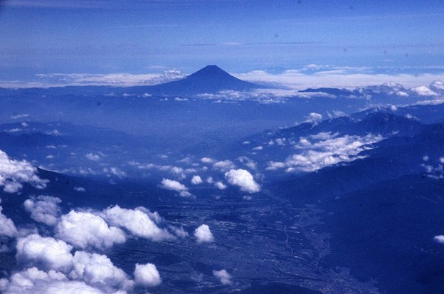 写真00398 甲府盆地と富士