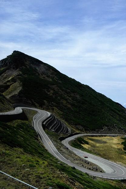 写真00555 烏帽子岳と乗鞍スカイライン