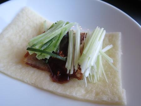 カントニーズレストラン 梵(Bon) 北京ダック(※要予約) 食べる直前の状態