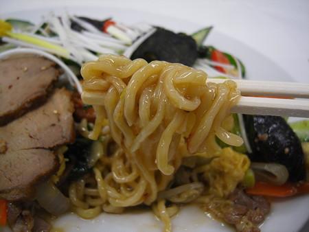 中華 宝亭 五目焼きそば(出前) 麺アップ