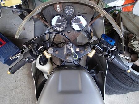 【ビレットレバー】レバーセット 黒/銀 可倒式をNS-1に装着した様子