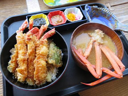 味千汐路 番屋 カニ天丼セット(カニ汁)¥2415