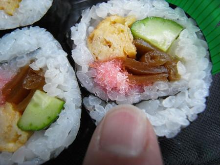 米やのコシヒカリ弁当 太巻 桜でんぶアップ