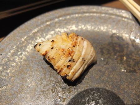 焼肉モランボン 市役所前店 ミックス盛り(内臓5種盛り) 豚の胃袋(ガツ) 焼き上がり後