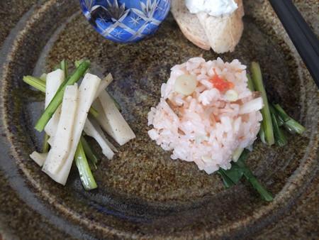 はな禅 2016/05/20花膳(Veganランチ、限定15食) 「孟宗竹のブラックペッパーいため」「竹の子とトマト 炊き込みご飯、蕪の葉漬け」