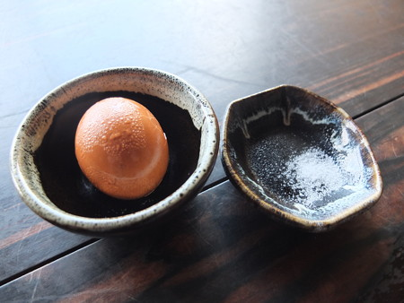 桃の木亭 茹で卵(サービス)