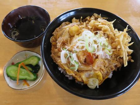越善 本店 天玉丼(20食限定、ネギ・天かすトッピング)¥330