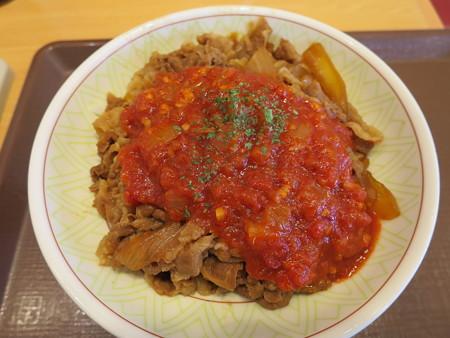 すき家 上越高土店 アラビアータ牛丼(期間限定)中盛¥610