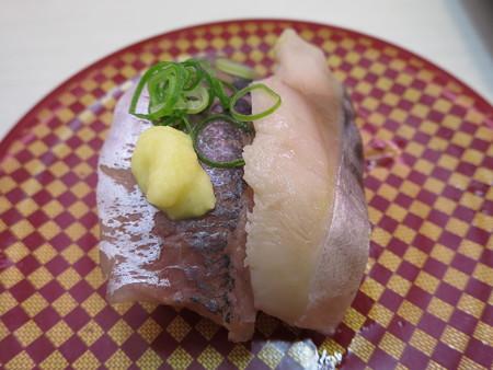 魚べい 上越高田店 あじ・〆さば¥108