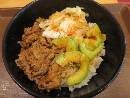 すき家 上越高土店 アボカド牛丼(期間限定)¥490