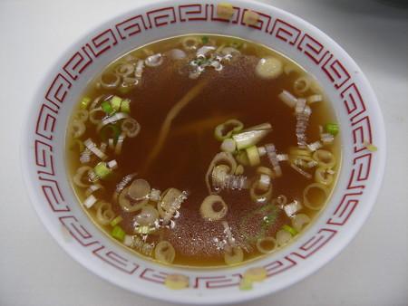 中華 宝亭 揚げ焼きそば(出前) スープ