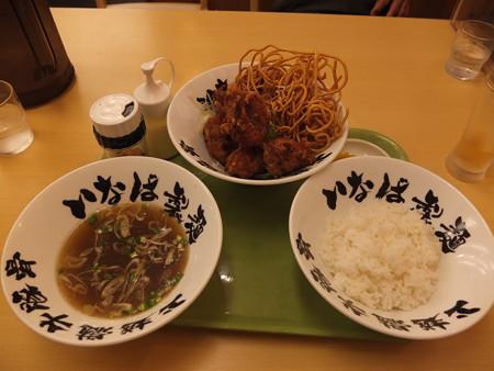 いなば製麺 鶏の唐揚げ定食¥690