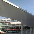 写真: JR新潟駅南口のミストシャワー