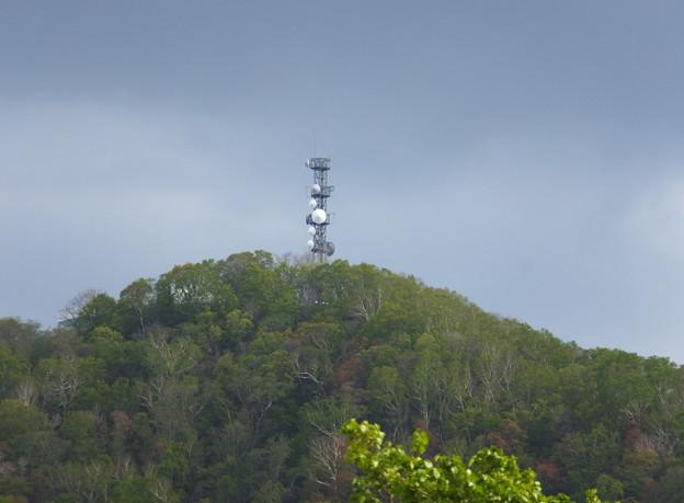 旭山記念公園から見た藻岩山山頂
