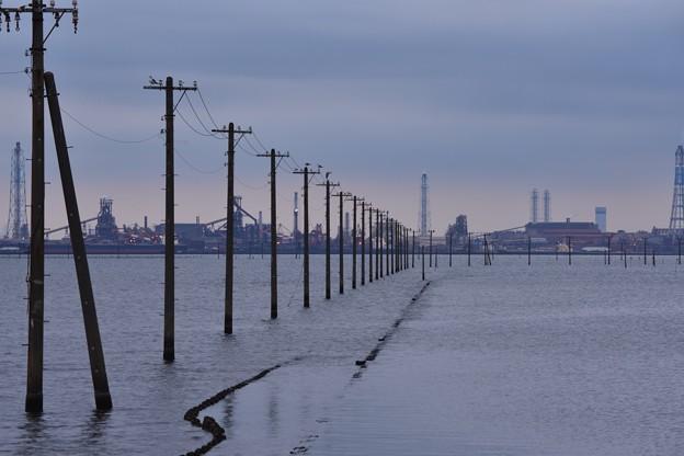 電柱のある風景