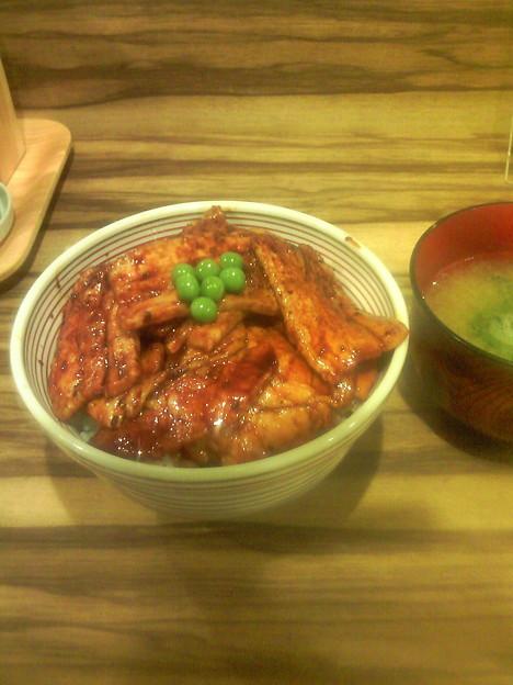 Photos: 豚丼バラ&ロースの合わせ盛り♪