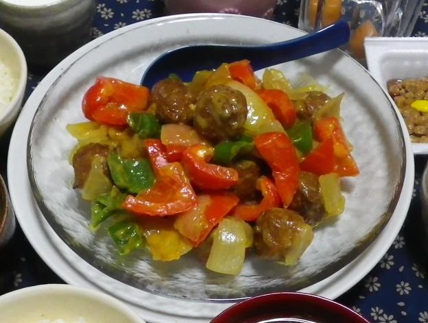 肉団子カレークリーム炒め1