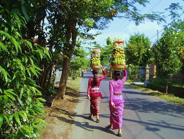 インドネシア バリ島 お祭りの準備
