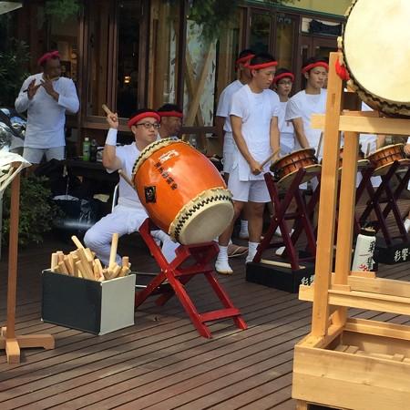 枇杷倶楽部のイベントでの平群囃子