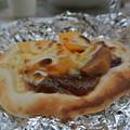 石窯で焼いたフルーツピザ