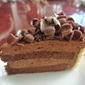 写真: 誕生日のチョコレートケーキ