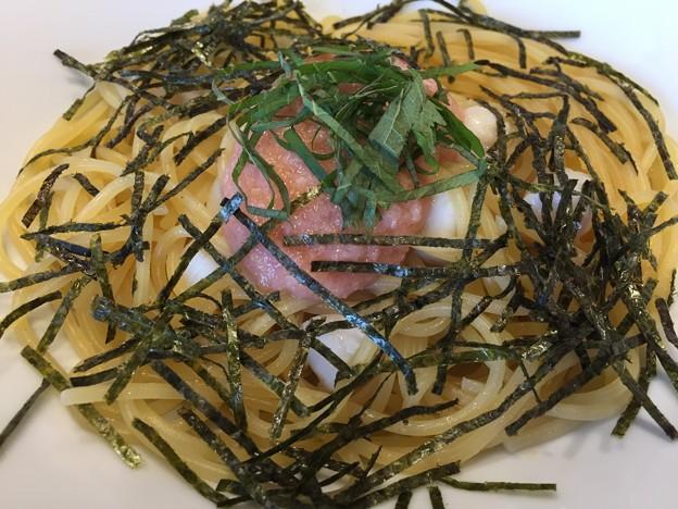 たらこと貝柱のスパゲッティ