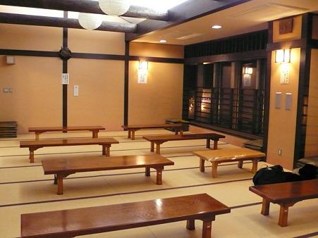 道の駅「湯西川」の休憩所