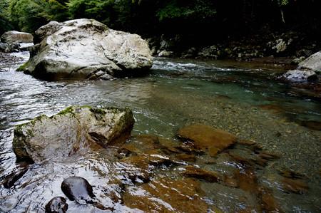 小雨の渓流