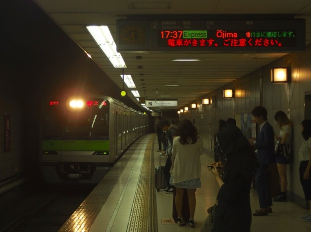 京王新線初台駅2番線 都営10-430F急行大島行き進入