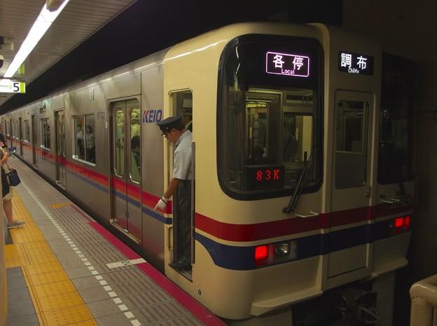 都営新宿線九段下駅5番線 京王9032各停調布行き停止位置よし