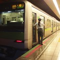 都営新宿線浜町駅1番線 都営10-310F各停八幡山行き笛扱い